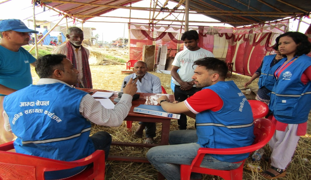 Health Camp for Windstorm affected of Bara and Parsa District 2075.12.23